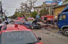 Grav accident într-o intersecție din Botoșani! Mai multe persoane au ajuns la spital - FOTO