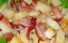 Cartofi cu Bacon și Ciuperci la Cuptor