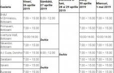Program SPECIAL de Paşti şi 1 Mai pentru casieriile Nova Apaserv din județul Botoșani