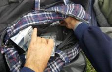 Ţigări de contrabandă confiscate de poliţişti de la un bărbat din Cristinești