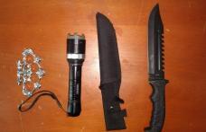 Cuțitar dezarmat de jandarmii botoșăneni după ce a amenințat un adolescent