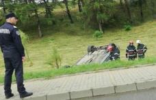 Accident rutier la ieșirea din Botoșani. Doi tineri au ajuns la spital! - FOTO