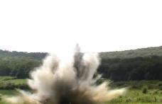 Muniție rămasă neexplodată distrusă la Copălău - FOTO
