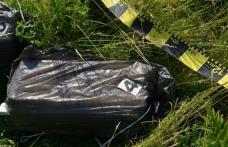 Ţigări de contrabandă transportate cu drona, abandonate în pădure, descoperite de SPF Dorohoi - FOTO