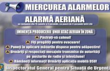 Miercurea alarmelor! Un nou exerciţiu de avertizare-alarmare a populaţiei a avut loc la Dorohoi
