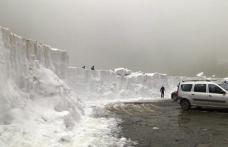 Zăpadă de peste 3 metri la Bâlea Lac, în luna lui Cuptor