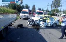 Accident la Broscăuți! Trei persoane aflate într-un taxi au fost rănite – FOTO