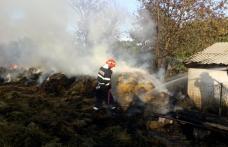Incendiu uriaș: Pompierii din Dorohoi încearcă să stingă un incendiu care riscă să se extindă la o casă – FOTO