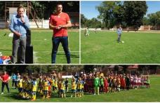 Interliga Națională de Fotbal a debutat la Dorohoi. Primarul a dat lovitura de începere - FOTO