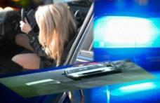 Pericol public! O tânără de 29 ani, prinsă la volan fără permis