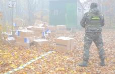 Focuri de armă la Dersca! Captură uriașă de țigări de contrabandă a Polițiștilor de Frontieră dorohoieni - FOTO