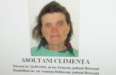 Femeie de 77 de ani dispărută după ce a mers să-şi viziteze fiul