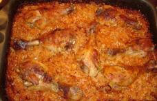 Varză cu orez și copănele la cuptor