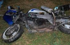 Beat și fără permis a ajuns cu mopedul în șanț