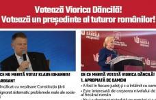 Comunicat - Dacă nu vrei încă 5 ani de ură și dezbinare între români vino la vot!  Fiecare vot contează! Votează Viorica Dăncilă!