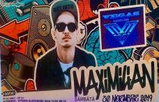"""""""VEGAS CLUB"""" vă așteaptă la o petrecere incendiară - Concert live semnat MAXIMILIAN"""
