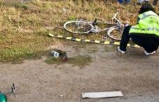 Biciclist accidentat de o autoutilitară. Victima a efectuat o manevră imprudentă