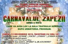 """Clubul Copiilor Dorohoi organizează a XXI-a ediție a """"Carnavalului Zăpezii"""""""