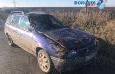 Accident! Un șofer beat s-a răsturnat cu mașina pe drumul dintre Dumeni și Havârna - FOTO