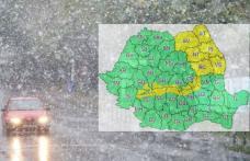 Meteorologii au emis o atenționare COD GALBEN de vânt și ninsoare