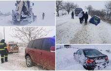 Iarna a cuprins județul Botoșani! Zăpadă, vânt, drumuri închise și accidente înregistrate în ultimile 24 de ore - FOTO