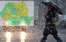 Meteorologii atenționează! COD GALBEN de ninsori și intensificări ale vântului