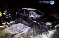 Accident feroviar la Dorohoi! Un tren marfar a lovit o mașină în care erau trei persoane - FOTO