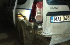 Polițist botoșănean, de la Rutieră, rănit într-un accident la Vârfu Câmpului
