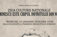 """""""Eminescu este chipul infinitului din noi"""" - Eveniment desfășurat la Primăria Dorohoi"""