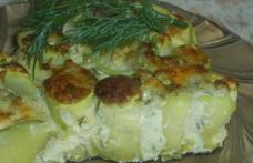 Rulouri de dovlecei cu brânză, la cuptor