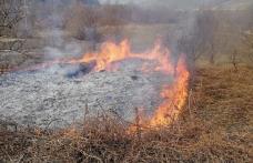 Două incendii de vegetație uscată, în mai puțin de o oră