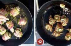 Rulouri din piept de pui cu bacon și cârnăciori