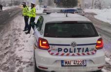Atenţie maximă la volan! Se circulă în condiţii de iarnă