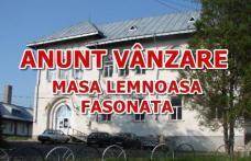 """Liceul Teoretic """"Anastasie Bașotă"""" Pomârla anunță organizarea licitației de masă lemnoasă pe picior și masă lemnoasă fasonată gorun la drum auto"""