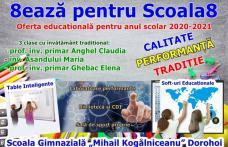 8ează pentru Școala8 – Vezi oferta educațională pentru anul școlar 2020-2021