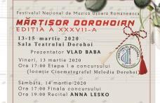 """Festivalul """"Mărțișor Dorohoian"""" 2020 - Dan Bitman și Anna Lesko vor cânta în recital!"""