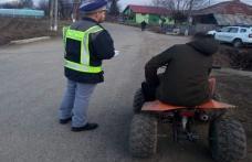 Dosar penal, în loc de mărţişor, pentru un tânăr prins băut și fără permis, pe un ATV neînmatriculat