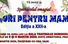 """Clubul Copiilor Dorohoi: Concert omagial """"Flori pentru mama"""", ediția a XXII-a. Vezi programul!"""