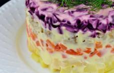 Salată de post în straturi