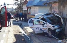 Accident! Un jandarm din Botoșani a intrat cu mașina într-o autospecială de poliție
