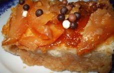 Prajitura rapida cu mere si zahar ars (de post)