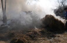 Incendiu la Hudești! Pompierii din Darabani au intervenit pentru stingere - FOTO