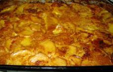 Musaca de cartofi, cu carne de pui