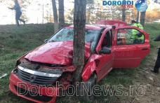 Accident violent la intrarea în Dorohoi! Șofer rămas încarcerat și transportat la spital - FOTO