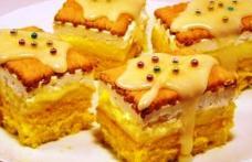 Prăjitură cu unt și biscuiți