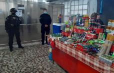 """Razie cu """"mascaţi"""" în Piața Centrală. Peste două tone de produse alimentare confiscate - FOTO"""