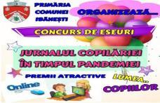 IBĂNEȘTI: Concurs de eseuri! Jurnalul copilăriei în timpul pandemiei!