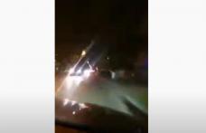 Imagini incredibile! Accidentul de la Botoșani filmat din mașina celui care l-a produs - VIDEO