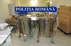 Alcool etilic obținut într-o fabrică de produse cosmetice din Botoșani - FOTO