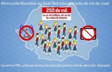 Mii de elevi din Botoșani lăsați fără educație de PNL!
